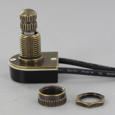 ROTARY ON-OFF CANOPY SWITCH ~ Antique ~ Brass ~ Nickel ~ by PLD