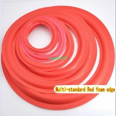 "2pcs 4/5/6.5/8/10/12""inch speaker Red Foam edge Loudspeaker Foam Surround repair"