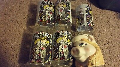 Lot of 5 mint 1981 muppets  mcdonalds  glasses miss piggy kermit +