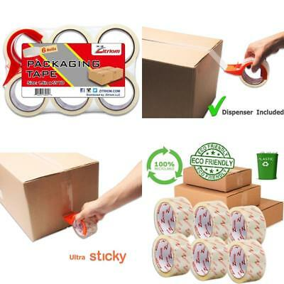 6 Rolls Scotch Moving & Storage Packing Tape Shipping Packaging Mailing NEW HOT
