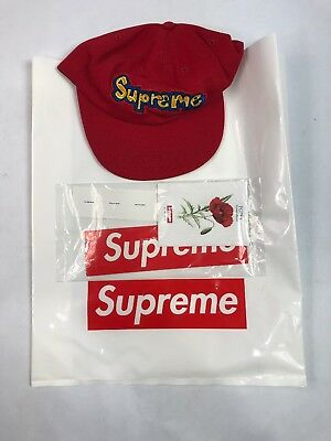62e918b45d2006 Supreme New York NYC Gonz Logo Red Blue 6 Panel Snapback Cap Hat SS18H26 New