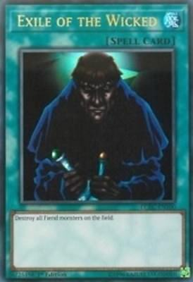 YuGiOh Exile of the Wicked - LCKC-EN100 - Ultra Rare - 1st Edition Near Mint