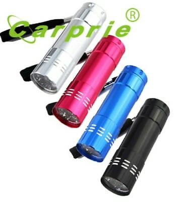 Super Mini Aluminum UV Ultra Violet 9 LED Flashlight Blacklight
