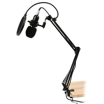 BM800 Condenser Microphone Studio Suspension Boom Scissor Arm Sound Card H1P4
