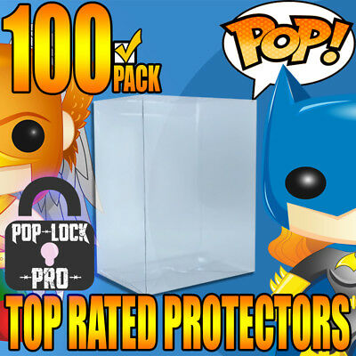 """100 x FUNKO POP PROTECTORS PREMIUM CRYSTAL CLEAR 4"""" STRONG CASE COVER THICK"""