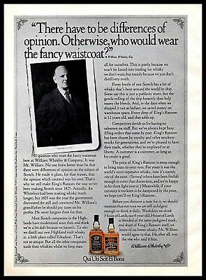 House of Lords Scotch Vintage PRINT AD 1974 William Whiteley & Co. King's Ransom