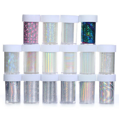 25Colors Galaxy Nail Art Foil Transfer Sticker Tips Wrap Starry Sky Holographic