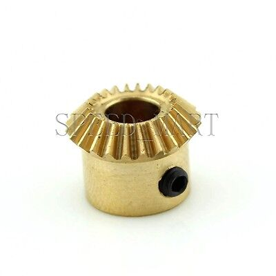 0.5M-20T Metal Umbrella Tooth Bevel Gear Helical Motor Gear 20 Tooth 4mm Bore
