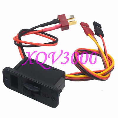 On Off Switch Connector Futaba JR Male W/T-Plug Deans style Male for RC Lipo