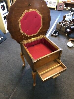Vintage Sewing / Coffee Table Lift Up Lid With Storage Under Ideal Project 1960