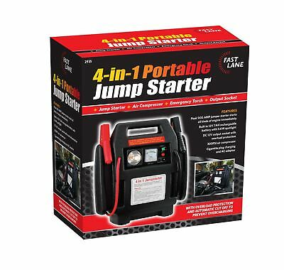 4 in 1 Jump Starter Car Van 900amp Battery Starter Charger Air Compressor Torch