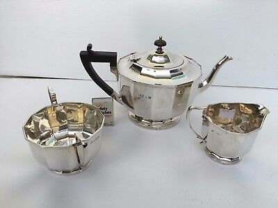 Antique solid sterling silver tea set 3 piece