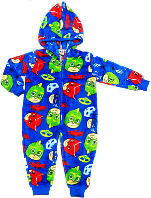 New Sz 2-6 Kids Winter Pyjamas Bodysuit Boys Pj Masks Sleepwear Jump Suit Pjs