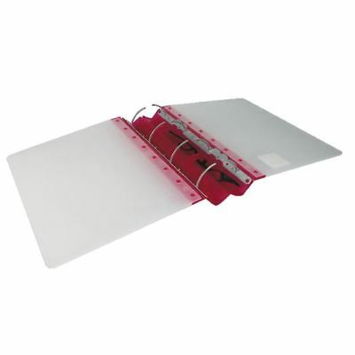 Guildhall GLX Ergogrip Frosted A4 Ring Binder Raspberry (Pack of 2)[GH14545]