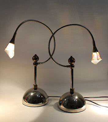 2x No Name Tischleuchte Design Catellani & Smith Italy Lampe Nachttischlampe