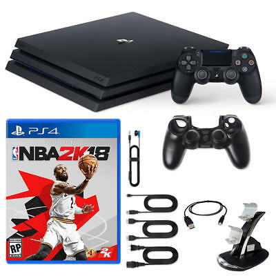Brand New Sony Playstation 4 Ps4 Pro Console With Nba2K18 And Accessories