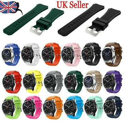 UK Silicone Bracelet Strap 22mm Watch Band For Samsung Gear S3 Frontier/Classic