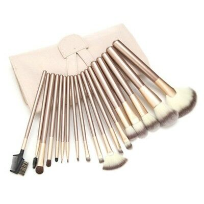 18 Pcs/set Set High Quality Brushes Kit Cosmetic Makeup Professional Face Beige