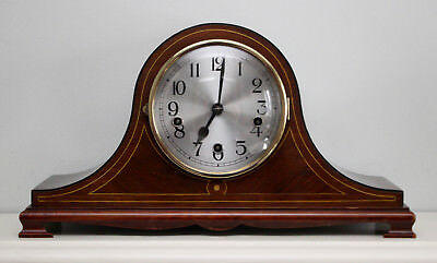 A Very Fine 'Napoleon Hat' Westminster Chiming Clock, Box Wood Inlay
