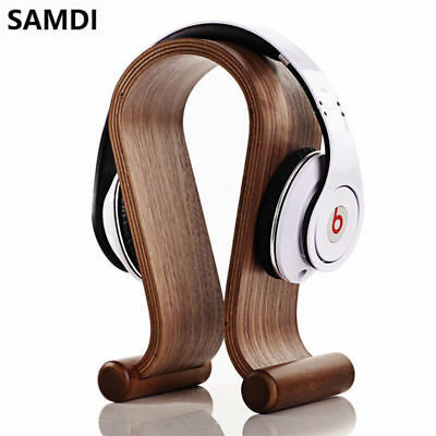 Samdi Wooden U-shape Display Stand Hanger Holder for Headset Earphone Headphone