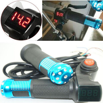 12V~84V EBike Electric Scooter Throttle Grip Handlebar LED Digital Li Battery