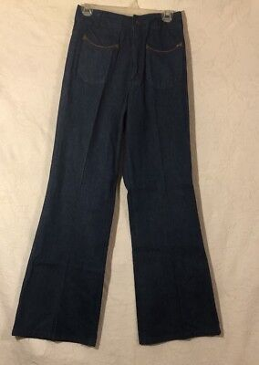 Vintage 70's Landlubber Jeans Size 36* W Patch Pockets Front And Rear, Wide Leg