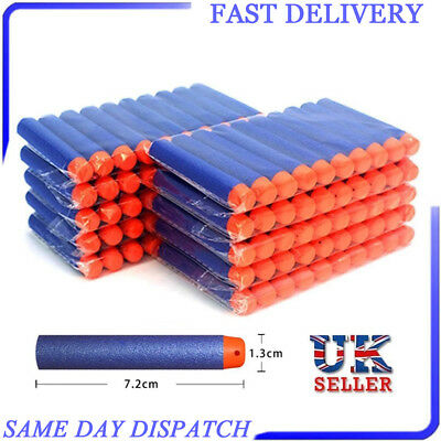 100/500 Nerf Gun Soft Refill Bullets Darts Round Head Blasters For N-Strike Toy