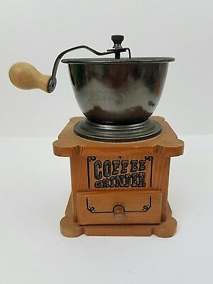 Wooden Manual Coffee Grinder Vintage Style Hand Coffee Mill Burr