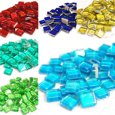 Luminescence mosaic tiles for arts and crafts - 50g various colours