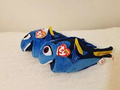 99fbd118785 2 Finding Dory TY Beanie Babies Sparkle Eye Plush LIMITED EDITION Disney  Nemo