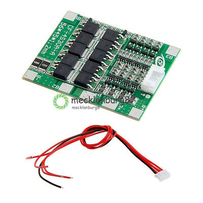 Cell Balance 4S 30A 14.8V Li-ion Lithium 18650 Battery BMS PCB Protection Board