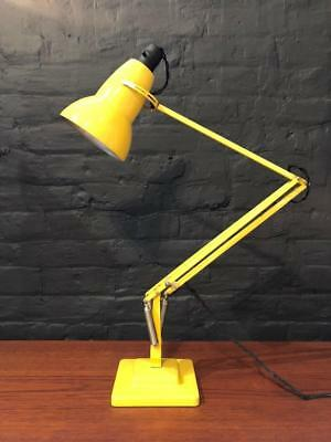 Vintage Herbert Terry George Carwardine Yellow Anglepoise Lamp Light #2290