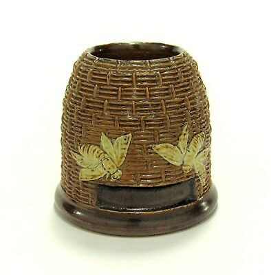 Darling Antique ROYAL DOULTON Lambeth 'Beehive' Match-Holder w/Striker ca.1902