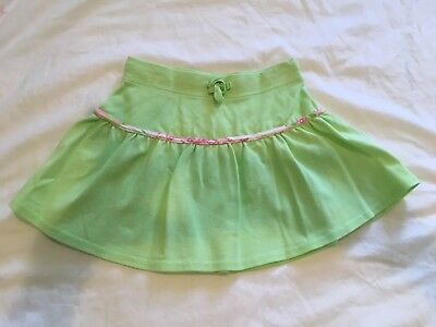 Lilly Pulitzer lime green skirt. Tie waist. Size 4