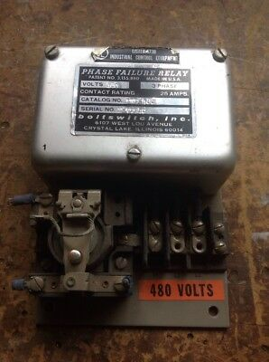Boltswitch PND-480 Phase Failure Relay 480 VOLT 3 PHASE