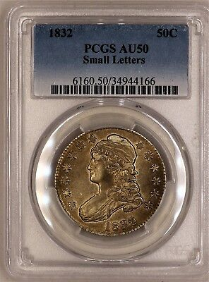 1832 Capped Bust Half Dollar - PCGS AU50 - HIGH GRADE ABOUT UNCIRCULATED - #166