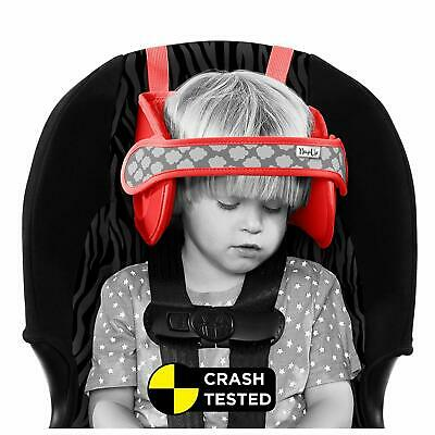 Napup Child Car Seat Head Support - Sleep Comfortably On The Go - Red