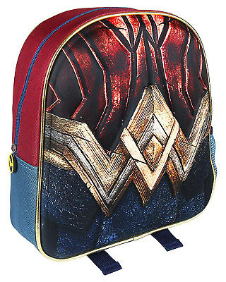 Wonder Woman Backpack 3D Effect Official DC Comics Justice League  3D Backpack