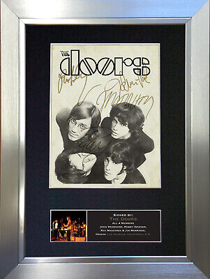 THE DOORS No2 Signed Autograph Mounted Photo Repro A4 Print 694