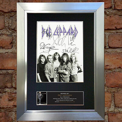DEF LEPPARD Signed Autograph Mounted Photo Repro A4 Print 695