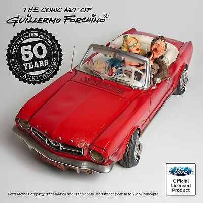 Guillermo Forchino Comic Art Skulptur - `65 FORD MUSTANG CONVERTIBLE - FO85079