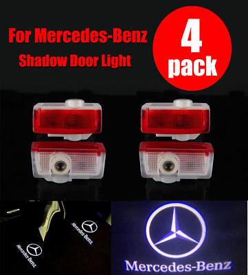 2/4 Mercedes Benz Projector Car Door LED Courtesy Light Puddle Ghost Laser LOGO