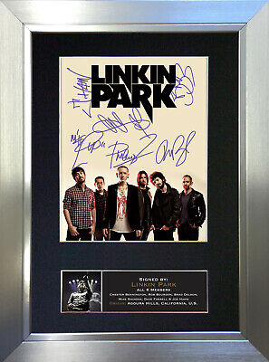 LINKIN PARK Signed Autograph Mounted Photo Repro A4 Print 705