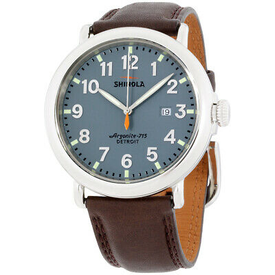 Shinola The Runwell Blue Dial Leather Strap Men's Watch 20001119