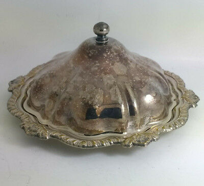 Vintage Plato Silver Plated Butter / Conserve Dish