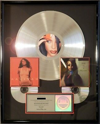 "Aaliyah ""one In A Million"" & ""aaliyah"" Riaa Record Award Platinum Rare Double"