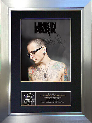 CHESTER BENNINGTON LInkin Park Signed Autograph Mounted Photo Repro A4 Print 711