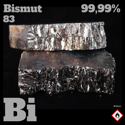 1 kg Wismut 99,99% Metall Bismut 1000 g - Bismuth metal - Pure element Bi 83