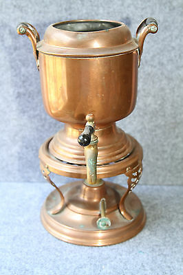 Antique Manning Bowman & CO 1906 Copper Coffee Percolator Samovar Urn Style