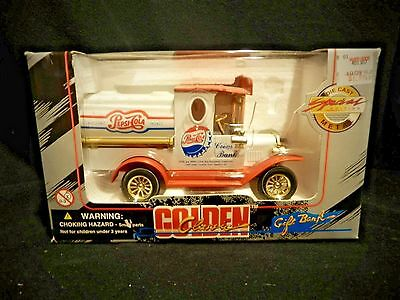 Golden /Classic Pepsi-Cola Delivery Truck Die-Cast Gift BANK Special Edition MIB